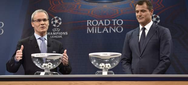 Sorteo de las semifinales de la Champions: el Madrid se medirá al City y el Atlético al Bayern