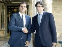 Puigdemont y Rufián ironizan sobre los resultados de C's