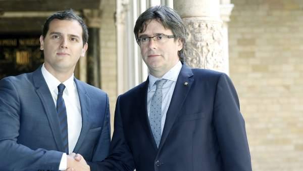 Carles Puigdemont y Albert Rivera