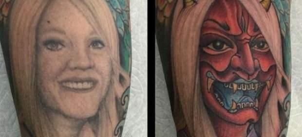 La mejor manera de 'arreglar' un tatuaje con la cara de tu esposa tras un divorcio