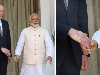 Narendra Modi y el príncipe Guillermo