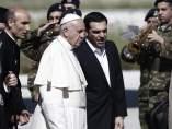 El papa visita Lesbos
