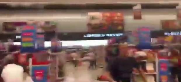 Así se vivió el estremecedor terremoto de Ecuador en el interior de un supermercado