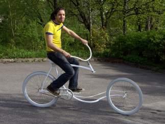 Bicicleta con timón