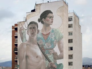 Untitled, mural in Granollers Spain, 2014