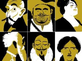 Galería de personajes cervantinos