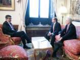 El presidente del Congreso, Patxi López, reunido con Mario Romeo, presidente de La Tercera Vía.