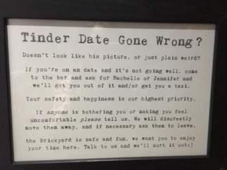Cartel de un bar londinense