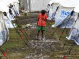 Campamentos temporales por el terremoto de Ecuador