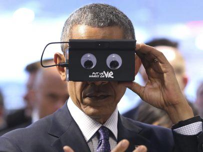 Obama experimenta la realidad virtual