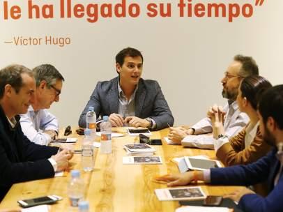 Albert Rivera en la reunión del comité de Estrategia de Ciudadanos