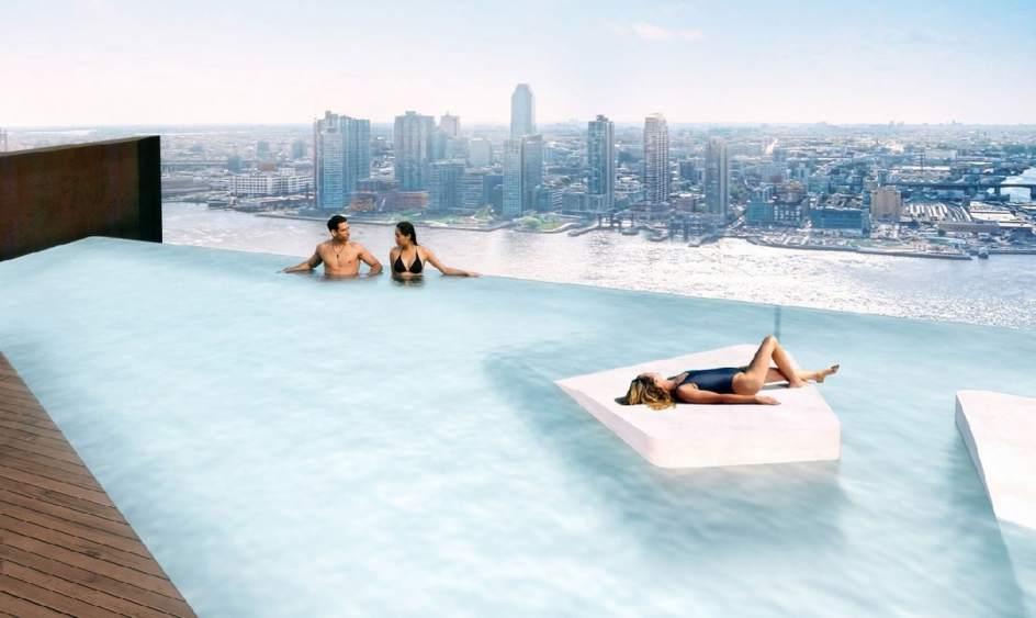 Una piscina puente cambiar el 39 skyline 39 de manhattan - Piscinas en alto ...