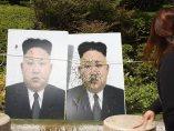 Globos de pintura contra Kim Jong-un