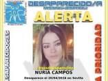 Cartel de la joven desaparecida