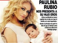 Paulina Rubio presenta a Eros, su segundo hijo