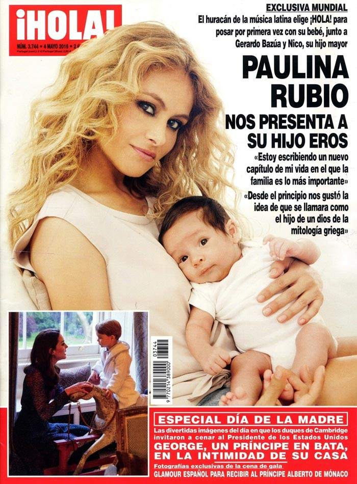 paulina rubio presenta a eros su segundo hijo. Black Bedroom Furniture Sets. Home Design Ideas