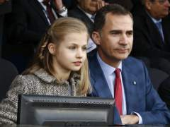 La princesa Leonor asiste al Atlético-Bayern