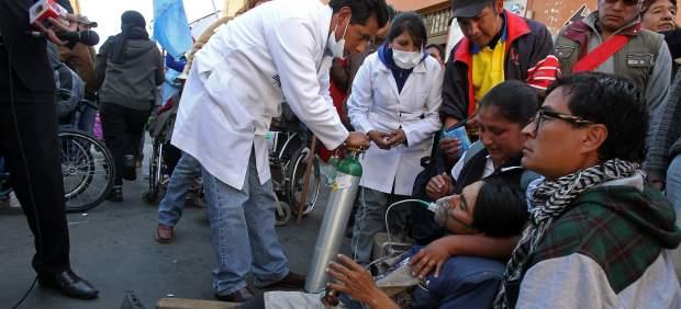 Manifestación discapacitados Bolivia