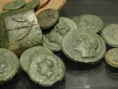 Encuentran monedas de la antigua Roma en un castillo de Japón