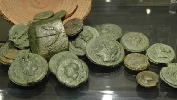 Monedas de bronce romanas