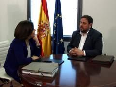 Sin acuerdos concretos en la reunión Saénz de Santamaría y Junqueras