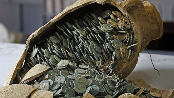 600 kilos de monedas romanas