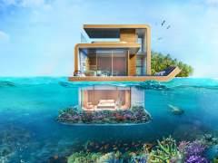 Lo último en casas para ricos: villas flotantes con dormitorios bajo el mar