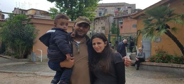Refugiados restacatos por el Papa: Hasan, Nour y Riad