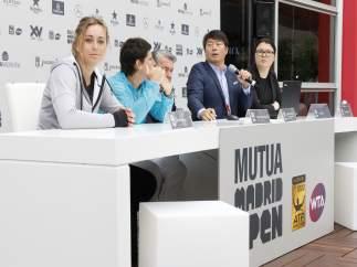 Carla Suárez en el sorteo del Mutua Madrid Open