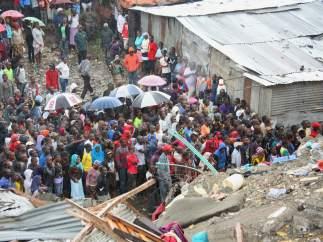 Derrumbe de un edificio en Nairobi