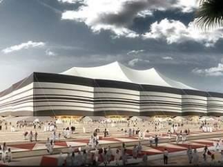 Maqueta del estadio Al Bayt, Catar