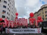 Manifestación por el 1 de mayo de CCOO y UGT en Pamplona