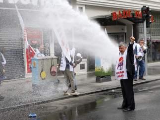 Manifestante turco