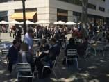 Terraza del Cafe Zúrich de Plaça Catalunya.