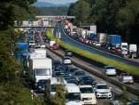Atasco, tráfico, carretera, retención,