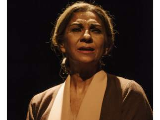 Lolita Flores en el papel de Natalia, la Colometa, de la novela 'La plaza del diamante' de Mercè Rodoreda. La intérprete sube este monólogo al escenario.