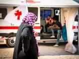 Cruz Roja atiende a refugiados en Grecia