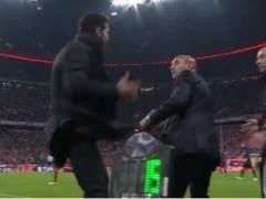 Simeone perdió los nervios y golpeó a su delegado