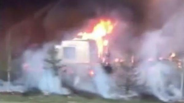 Pavoroso incendio en Canadá