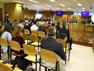 Interior de la sala de la Audiencia Provincial del juicio por el Madrid Arena