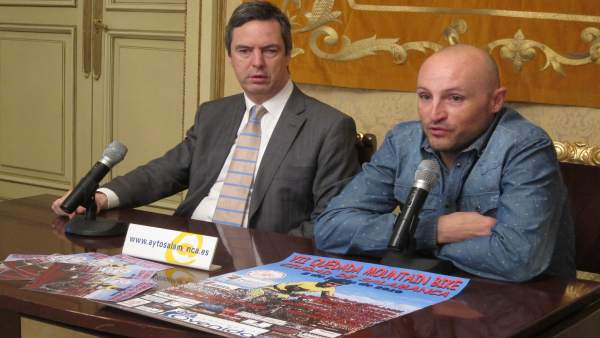 Enrique Sánchez-Guijo y Julio Rossy en la presentación de la prueba
