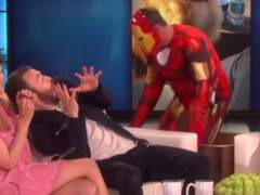 Chris Evans recibe un susto de Iron Man