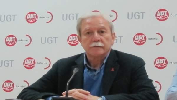 El secretario general de UGT Asturias, Justo Rodríguez Braga