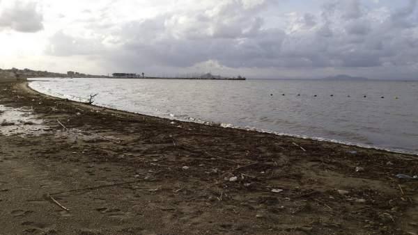 Consecuencias lluvia en playas Cartagena