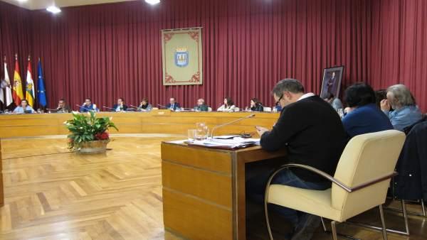 Pleno del Ayuntamiento de Logroño mes de enero de 2016
