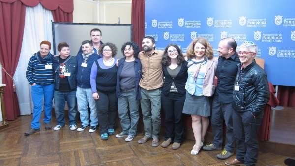 Laura Berro presenta el centro LGTBI de Pamplona.