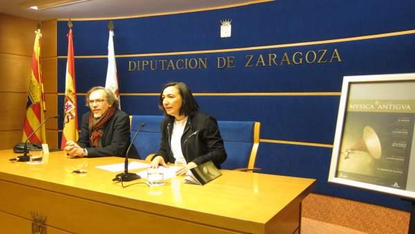 González y Palacín han presentado el XVII Festival de Música Antigua de la DPZ