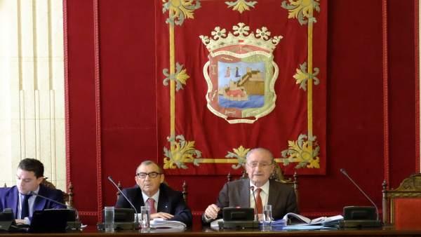 De la Torre pleno del Ayuntamiento de Málaga de abril de 2016