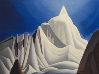 Lawren Harris - Mountains in Snow: Rocky Mountain Paintings VII, about 1929
