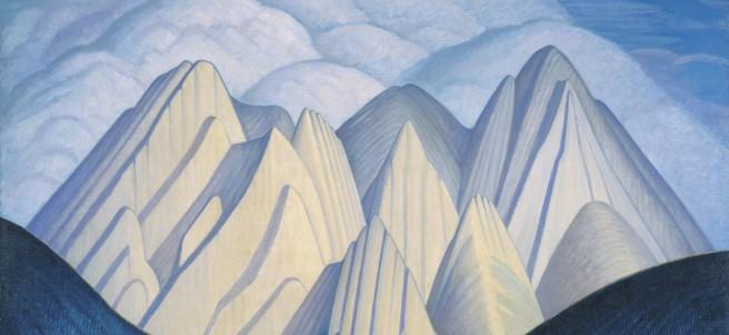Lawren Harris - Untitled (Mountains near Jasper), 1934